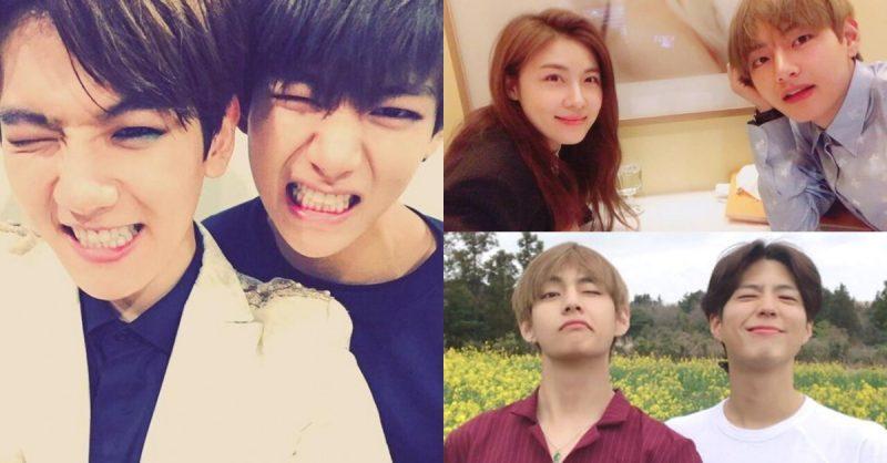 bts v s amazing list of celebrity friends korea dispatch
