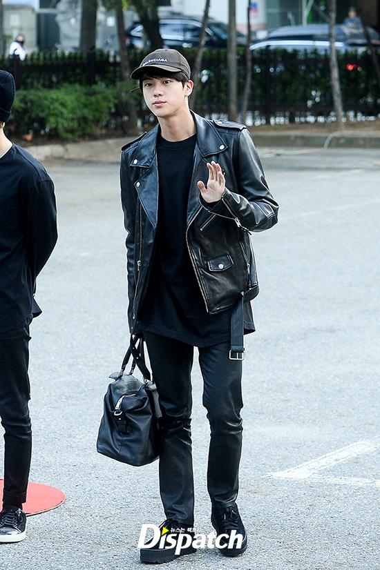 Good Morning Too In Korean : Bts jin s all black fashion korea dispatch